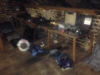 Garage car tools builder tools materials clearance