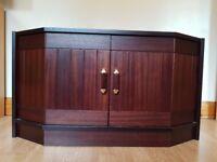 2-Shelf Mahogany Cabinet - Great exterior and good interior condition