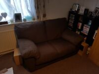 2 seater brown sofa great condition