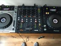 Pioneer CDJ-850 x 2 and Allen & Heath Xone 43c mixer