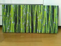 Green Bamboo canvas print - brand new