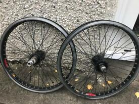 BMX wheelset.