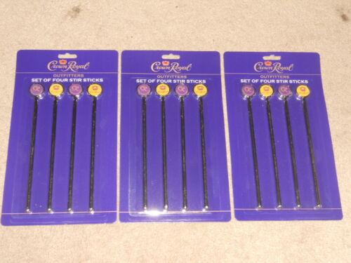 12 Crown Royal Outfitters Stir Sticks 3 Sets Of Four Metal Beverage Stirrers NIP