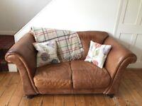 Sofa - Italian leather sofa and chair