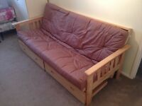 Futon - Double Bed - 2 Draws Underneath