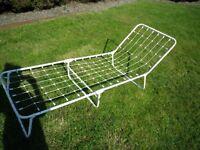 Sun lounger frame only white