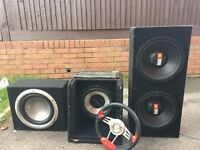 "12"" subs for sale,offers or swop"