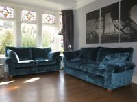 Teal Blue M&S Marks & Spencer 2 & 3 Seater Sofas (2 Piece Suite)