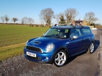 Mini Cooper S Clubman 60k, FSH, 2 Owners, Blue, Chilli Pack, Sunroof, Leather