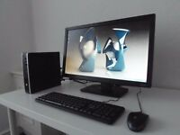 hp compaq 8200-i3- ultra slim desktop+ 24 inch monitor