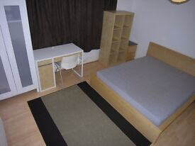 Large double room in modern refurbished house sharing with professionals inc bills near Rolls Royce