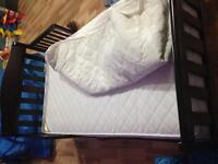 Toddler bed with matress and cover