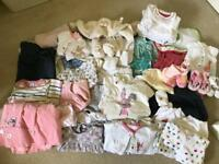 Baby Girl Clothes Bundle: 0-3months