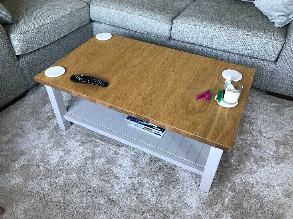 M S Marks And Spencer Padstow Coffee Table Putty