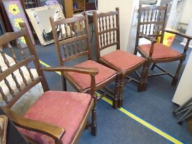 4 bannister back chairs. 2 of which are calvers.