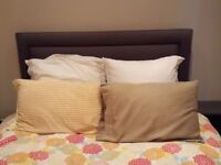Feather bed (double), feather pillows (x2) and Euro sham pillows