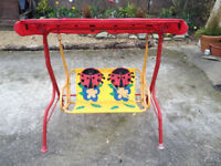 Childs garden swing chair