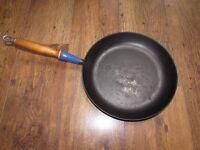 Le Creuset 29cm Large Cast Iron Frying Pan Blue