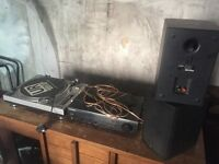 KAM belt drive turntable, Pioneer amp & Boston CR7 monitors.