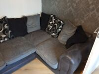 Right handed corner sofa with chair