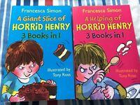 2 Horrid Henry 3 books in 1