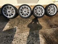BMW m sport 1 series alloys with matching Dunlop run flat tyres