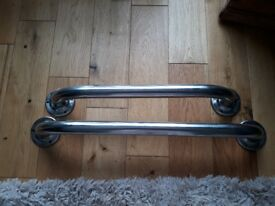 2 stainless steel grab rails. Screws not included