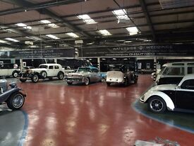 INDOOR CAR STORAGE WAREHOUSE FULLY HEATED AND SPACE FOR OVER 100 PRESTIGE CLASSIC VINTAGE CARS