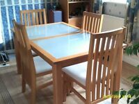 Dining room table complete with 4 chairs