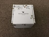 New Olivia Burton Enchanted Garden Grey and Gold Watch