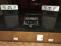 Two peavey speakers , twin CD player, two amps and all cables