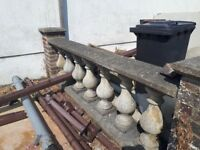 Concrete bottle urn balustrade