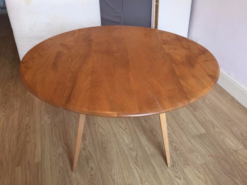 Ercol Drop Leaf Extending Round Dining Table Light Elm  : 86 from www.gumtree.com size 1024 x 768 jpeg 83kB