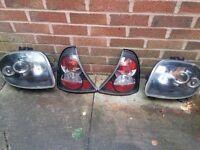 renault clio mk2 set of angel eye lexus car lights