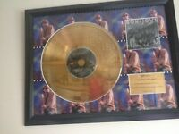 BON JOVI SLIPPERY WHEN WET 24CARAT GOLD COATED DISC EXCLUSIVE LIMITED EDITION , no 15 of 1500