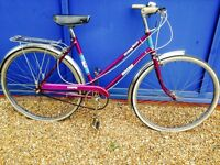 Beautiful Vintage raleigh city bike excellent used Condition