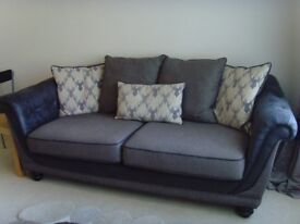 Large Sofa and Armchair, as New condition