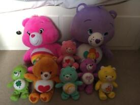 Set of Care Bear toys