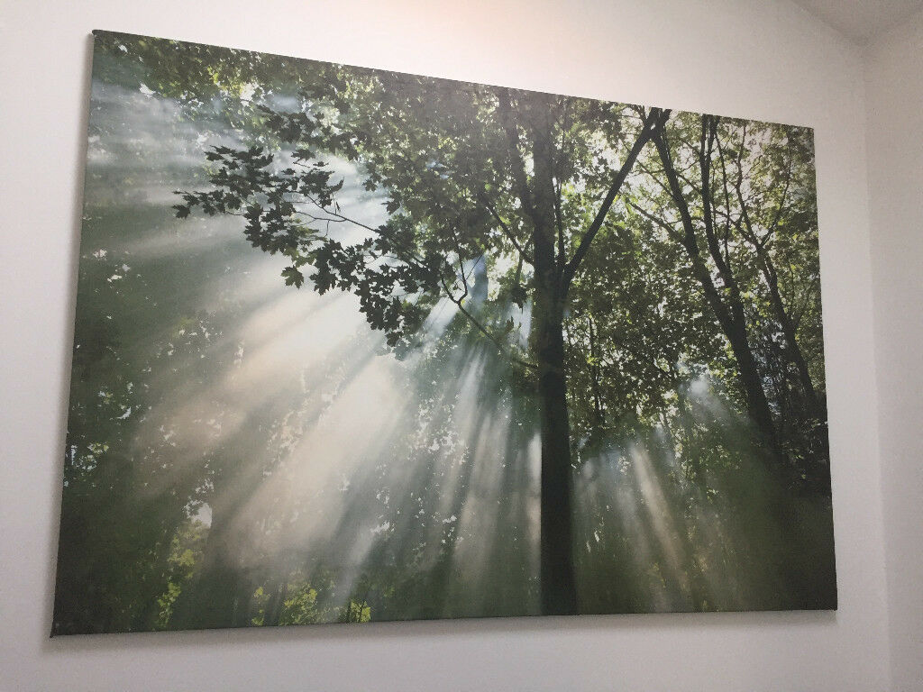 Ready to hang nature painting 200x140 cm
