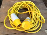 PCE 16A - 4H - 110 volt transformer trailing lead, cable for 110v power tools