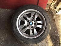 BMW SPARE ALLOY WHEEL WITH GOOD TYRE CHEAP