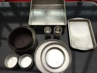 Collection of cake tins
