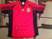 SPAIN soccer Jersey (World Cup 98) size XS