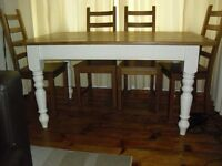 old farm house pine dining table