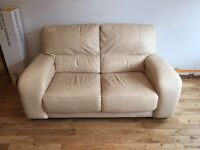 Cream Leather Sofa, fab condition, comes from a smoke free home and pet free home