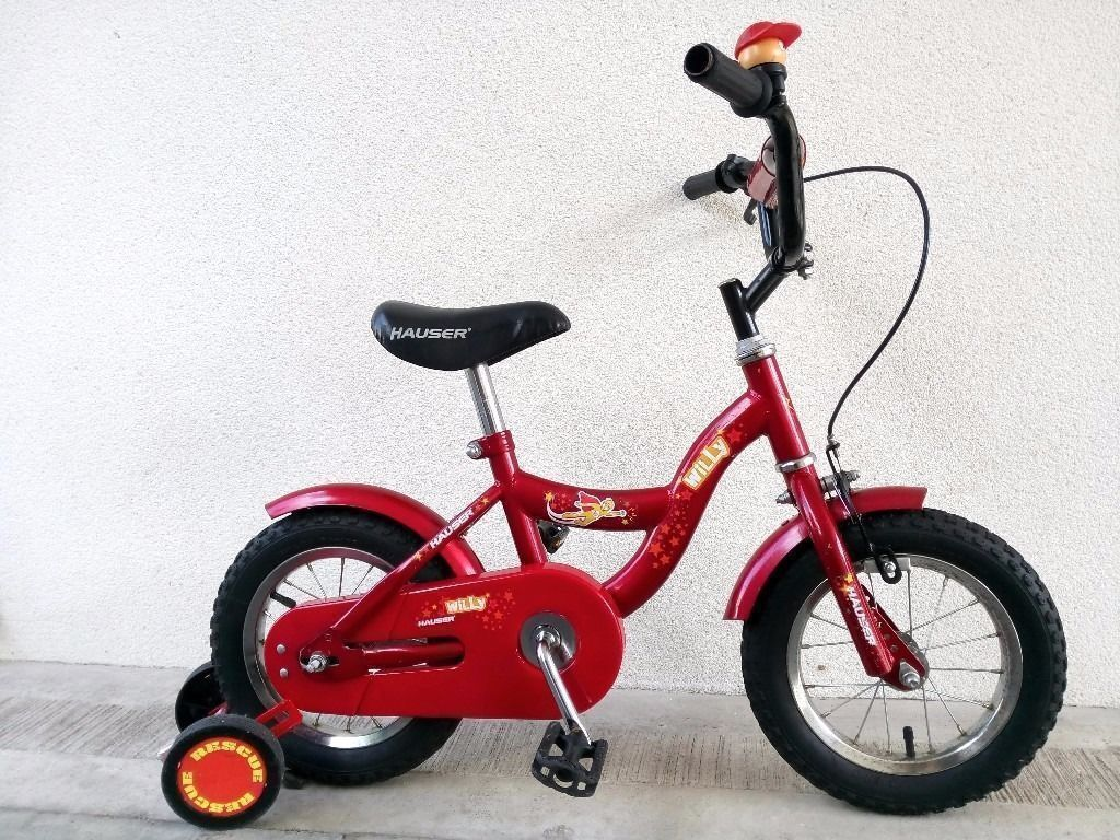 """(2259) 12"""" HAUSER WILLY Boys Girls Kids Childs Bike BicycleSTABILISERS Age 3 4 Height 90 105 cmin Fulham, LondonGumtree - Condition Used, in very good condition, minor frame scratches. One previous owner. See photographs to satisfy yourself to condition of the bike. The bike is ready to hop on and ride. It doesnt require any repairs. It has been washed, lubricated and..."""