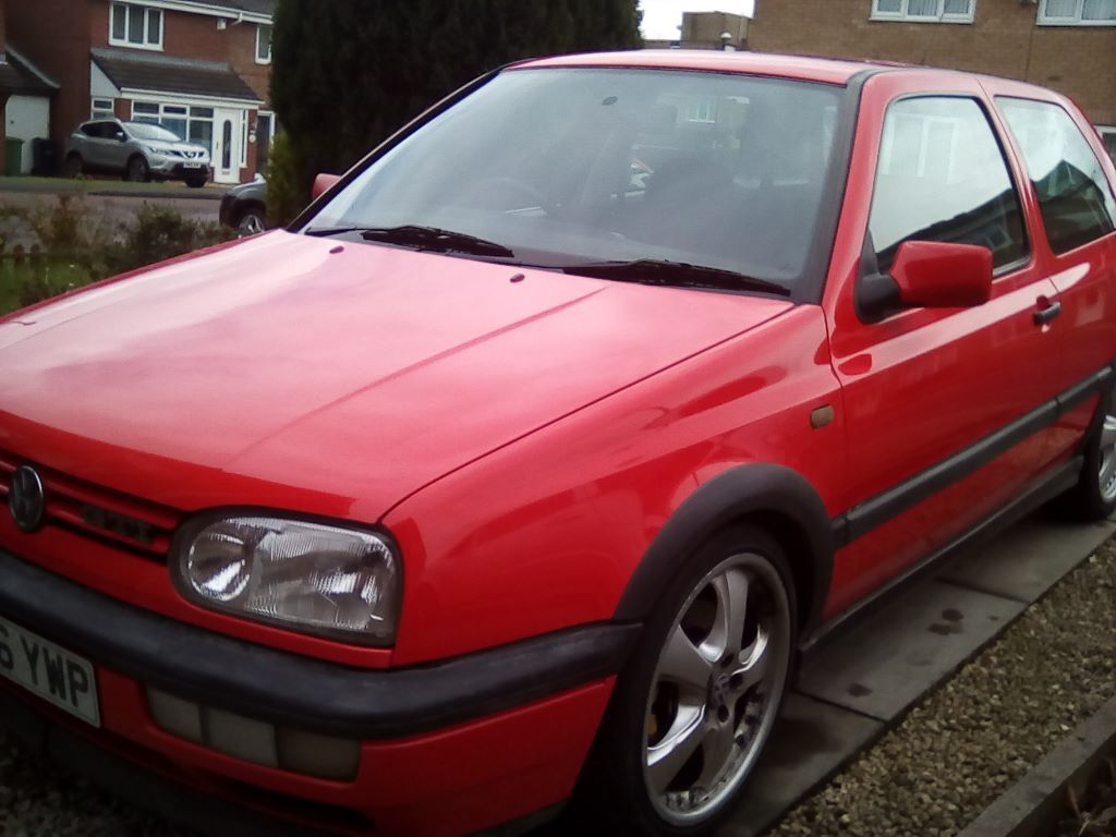 Classic Mk3 Vw Golf Gti Rare 3 Door Red 1o Months Mot