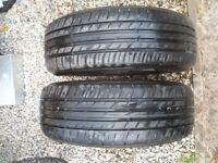 2x 215 60 16 99H FALKEN ecorun extra load tyres 6.5mm+