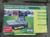 ADVENTURIDGE Double Burner Camping Stove with Grill Pan