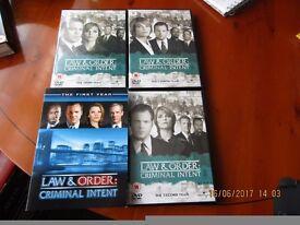 Law & Order Criminal Intent DVDs - Series 1-4 - Goren & Eames
